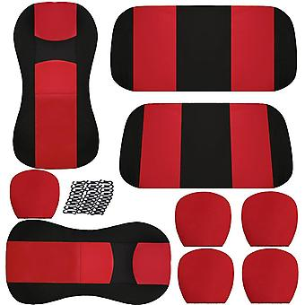 Universal car seat cover auto interior decoration protectors full surround headrest and pad backrest