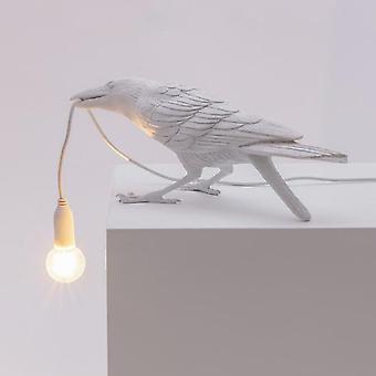 Seletti Vogel Wandlampe italienischen modernen Harz weiß Schwarzlicht für Schlafzimmer BettWohnzimmer Zimmer Dekoration LED Leuchten