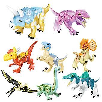 Jurassic Building Blocks World Dinosaurs Hahmot Tiilet kokoavat lapsia