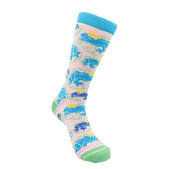 Frogs on a Lily Pad Socks (Frog Prince Fairy Tale) from the Sock Panda
