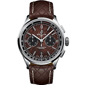 Breitling Premier Chronograph Automatic Brown Dial Men's Watch AB01181A1Q1X1