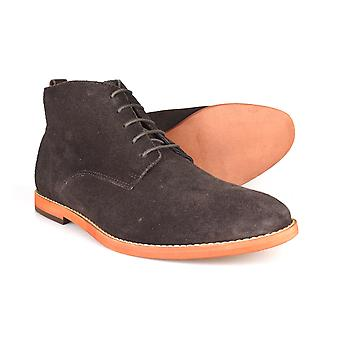 Silver Street London Jermyn Mens Brown Suede Desert Boots