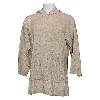 Isaac Mizrahi En direct! Sweat à capuche SOHO Pull femmes&apos avec poches Beige A392732