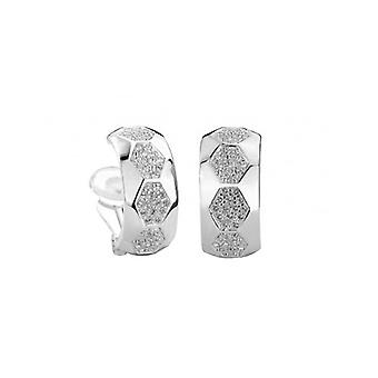 Traveller Clip Earrings Crystals From Swarovski Rhodium Plated - 156978 - 596