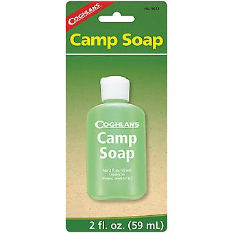 Coghlan's Camp Soap, 2 onças fluidas, Garrafa Espremível, Pratos Limpos ou Engrenagem
