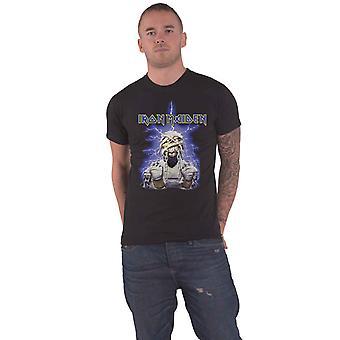 Iron Maiden T Shirt Powerslave Mummy Band Logo new Official Mens Black