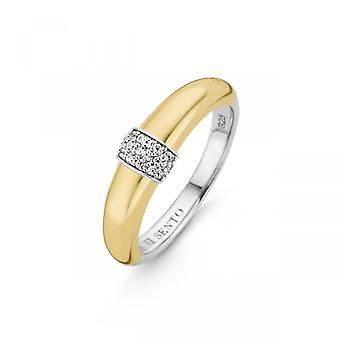 Ring Ti Sento Poolside refleksioner 12151ZY - Ring Ring Silver Rhodi dor og Brolægning Woman