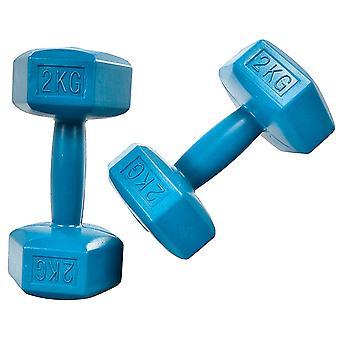 Käsipainosarja 2 x 2kg - Sininen - Fitness-painot
