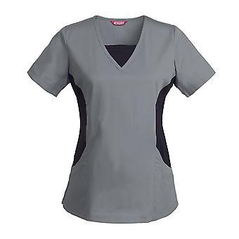 Dámske dojčiace uniformné blúzka s krátkym rukávom V-neck Pracovné tričko