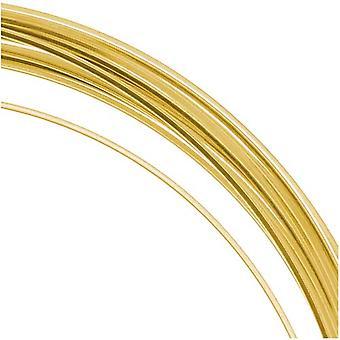 و Beadsmith غير تشويه الذهب مطلي النحاس ساحة كرافت حبة سلك 21Ga (12Ft)