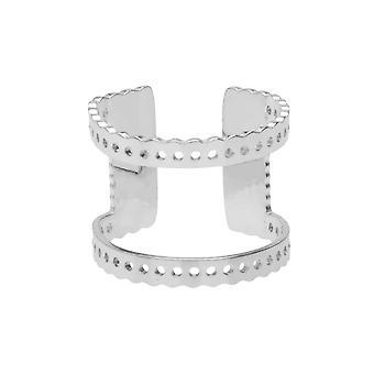 سنترلاين Beadable قابل للتعديل حلقة، انقطاع والثقوب 16mm، 1 قطعة، مطلي Rhodium