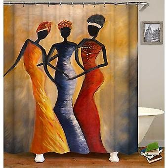 Afrikaanse dames kunst schilderij douche gordijn
