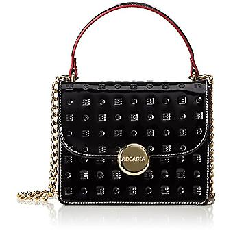 Arcadia Elisabeth, Women's Crossbody Bag, Black, 7x15x18 cm (W x H x L)