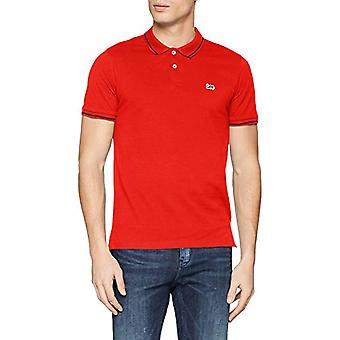 Lee Pique Polo T-Shirt, Red (Poppy Red NH), X-Small Men