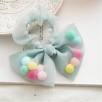 6Pcs cute bow hair accessories hair ring fur ball suitable for girls or girls