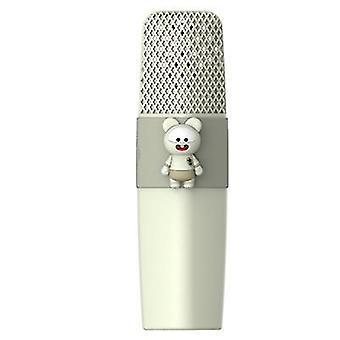 Fare yeşili k9 kablosuz bluetooth mikrofon ktv şarkı çocuklar çizgi film mikrofon az8568