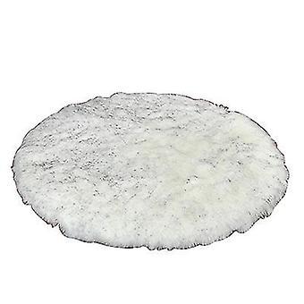 130Cm gray plush round bedroom carpet round cushion az17608