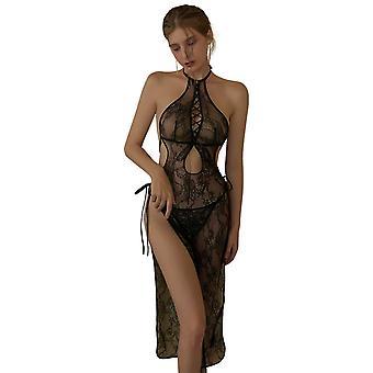 Regenboghorn Sexy Cheongsam Lingerie Nightdress Lace Sling Pajamas FL5585