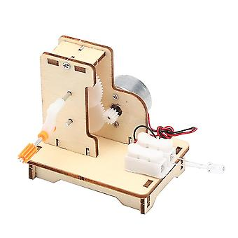 Diy Wooden Hand Cranked Generator, Students Kids Physical Science, Exercise,