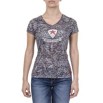 Andrew Charles Women T-Shirt V Neck Black
