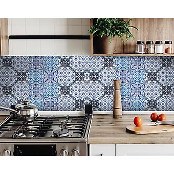"6"" X 6"" Mediterranean Blues Mosaic Peel and Stick Tiles"