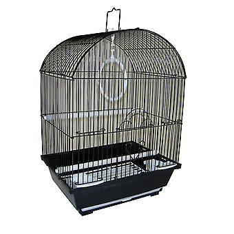 """Yml A1304Blk Round Top Style Small Parakeet Cage, 11 X 9 X 16"""""""