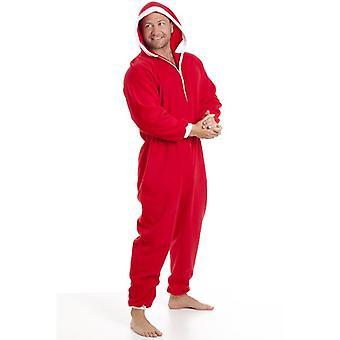 Mens di Camille classico tutto In un panno morbido bianco e rosso di Santa Pyjama Onesie dimensioni S-XXXL