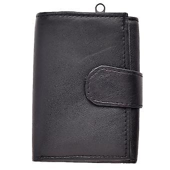 Lederen portemonnee voor heren met externe munthouder