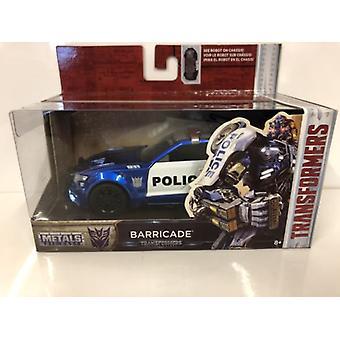 Transformers 5 Barricade Blue Police 1:32 Échelle Jada 98394