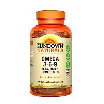 Sundown Naturals Triple Omega 3-6-9, 12 X 200 Softgels