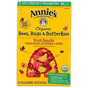Annie's Homegrown Fruit Snk Bees Bugs Btrfl, Case of 10 X 4 Oz