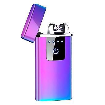 جديد hb-021-ice أزياء مزدوجة قوس الإلكترونية أخف الذكية لمسة USB التعريفي القابلة لإعادة الشحن sm41906