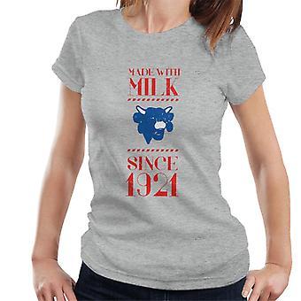 Den grinende ko lavet med mælk siden 1921 Kvinders T-shirt
