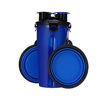Dog Water Feeder Bottle With 2 Collapsible Folding Bowls