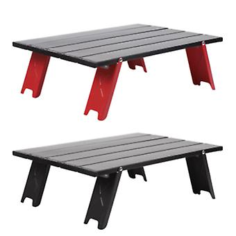 Musta Piknik Grilli Kiipeily Taitettava pöytä Camping Huonekalut Camping Alumiini Ulkona Kannettavat Ulkoelementit