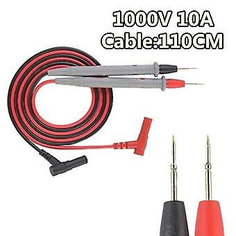 110Cm universal probe test leads pin for digital multimeter needle tip meter multi meter tester lead probe wire pen cable 20a