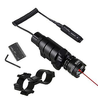 Tactical Red/Green Laser Sight Dot Rifle Scope Switch for 11mm Rail Mount Hunt(Red)