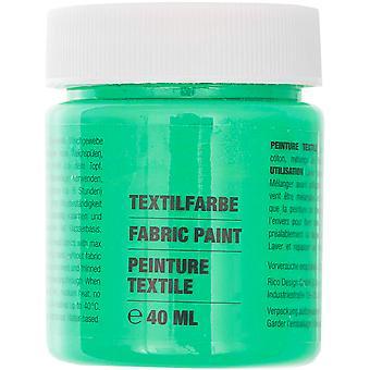 Mid Green Fabric Paint for Light Fabrics - 40ml