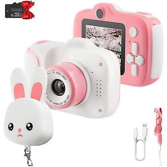 Etpark enfants caméra pour filles jouets 1080p hd double objectif, jouets pour tout-petits enregistreur vidéo 2 pouces, enfants appareils photo numériques anniversaire