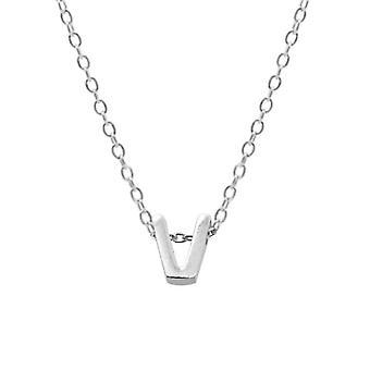 Sterling Silver Letter Round Choker Necklace, Minimalist Fine Jewelry(SILVER V)