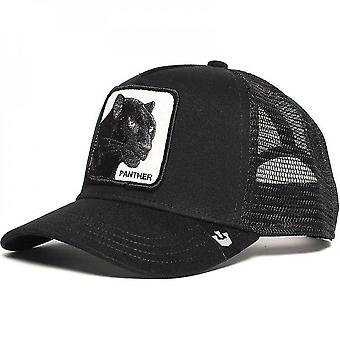 Panther Mesh Cappello Camionista Nero Daddy Hat / Net Snapback