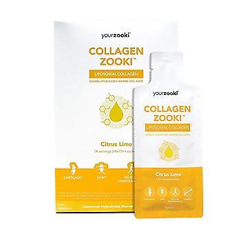 YourZooki Liposomal Marine Collagen Sachets 14x15ml