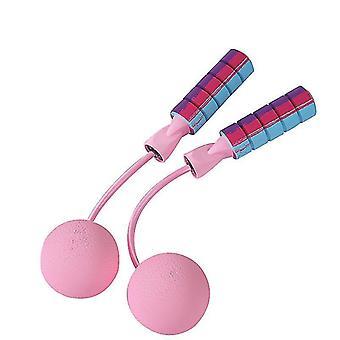Corde à sauter, corde à sauter sans fil, pour le fitness, séance d'entraînement (rose)