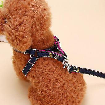 2pcs/set Pet Dog Nylon Harness Seil Schnur Walking Leine Traktion Gürtel Seil