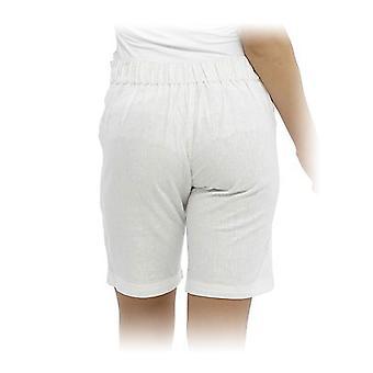 kvinners tom franks solid farge enkel omsorg sengetøy sommer shorts - hvit - 16