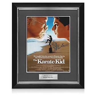 Ralph Macchio firmó el póster de Karate Kid. Marco Deluxe