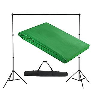 Backdrop Support System 300x300cm Green Photography Studio Background