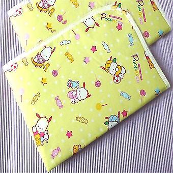Vedenpitävä virtsamatto puuvilla pehmeä vaipat peitetyyny kangas vauvan vuodevaatteet