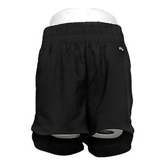 zuda Women's Shorts Z-Eco Shorts with Knit Waistband Black A377780