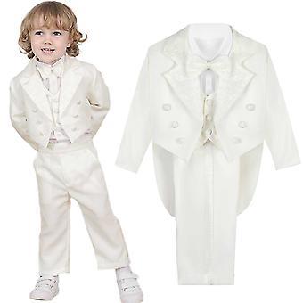 Baby Classic Tuxedo Baptism Wedding Suit Toddler